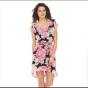 Candie's Floral Hi Low Summer Dress